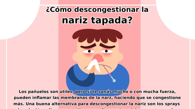Descongestionar la nariz tapada
