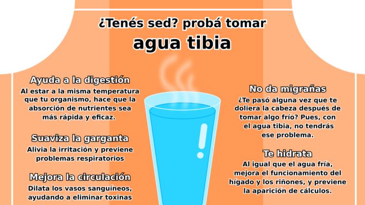 Agua tibia