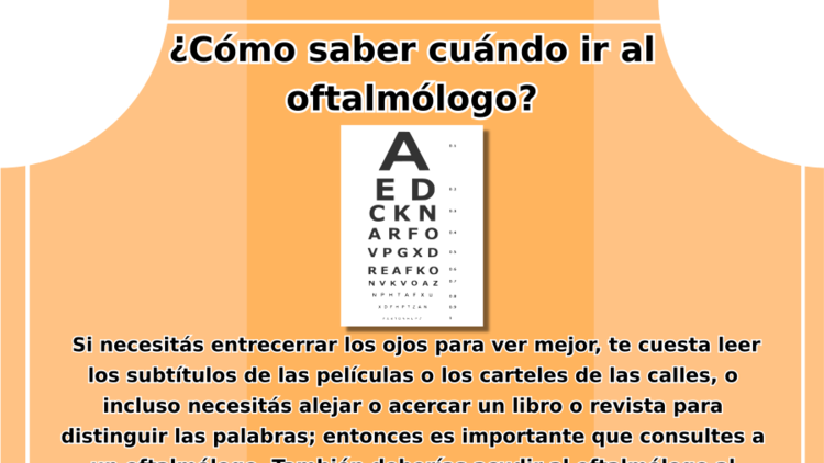 Cuándo ver al oftalmólogo