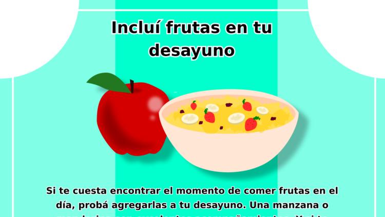 Incluí frutas en tu desayuno