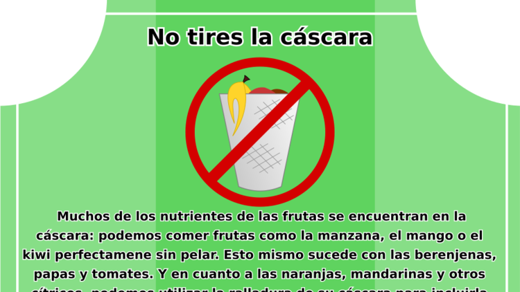 No tires la cáscara