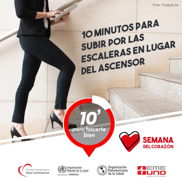 10 minutos para subir por la escalera en lugar del ascensor