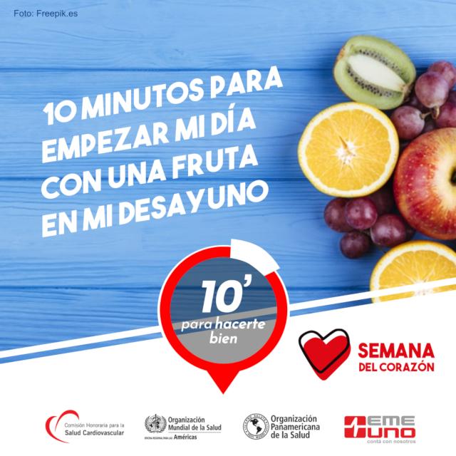 10 minutos para empezar el día con una fruta